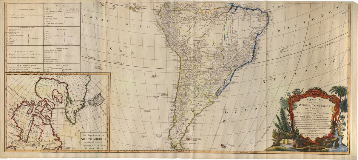 A new map of the whole continent of America, divided into North and South and West Indies