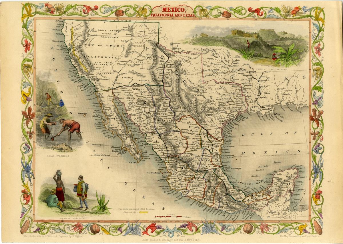 Mexico, California, and Texas
