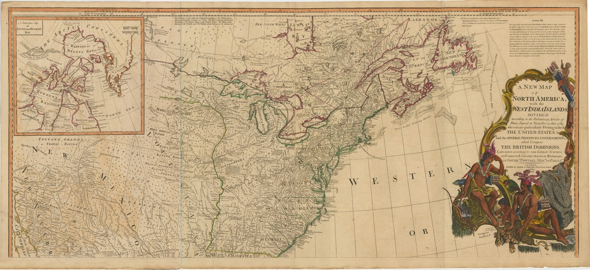A new map of North America, with the West India Islands