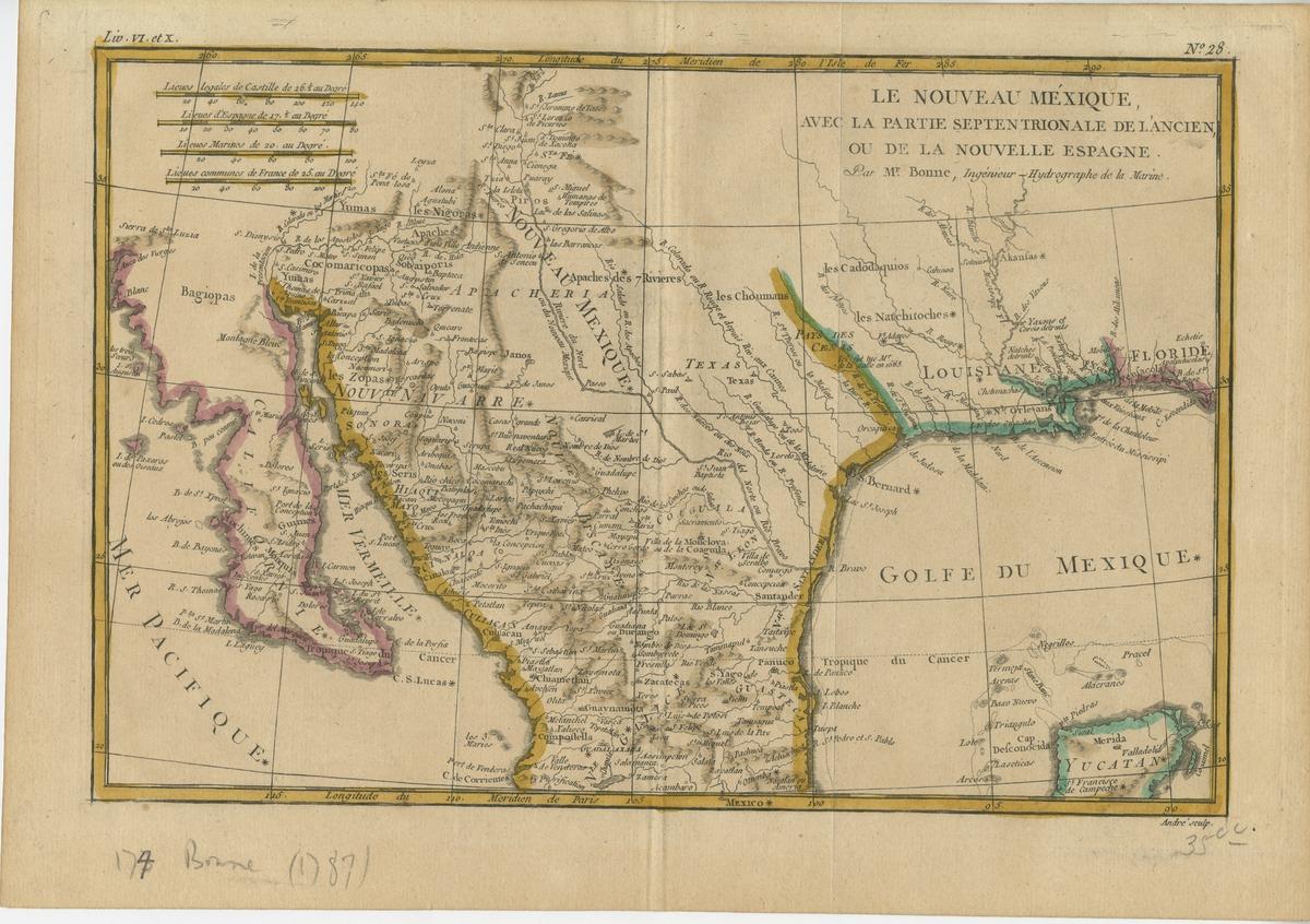 Le nouveau Mexique, avec la partie septentrionale de l'ancien, ou de la nouvelle Espagne