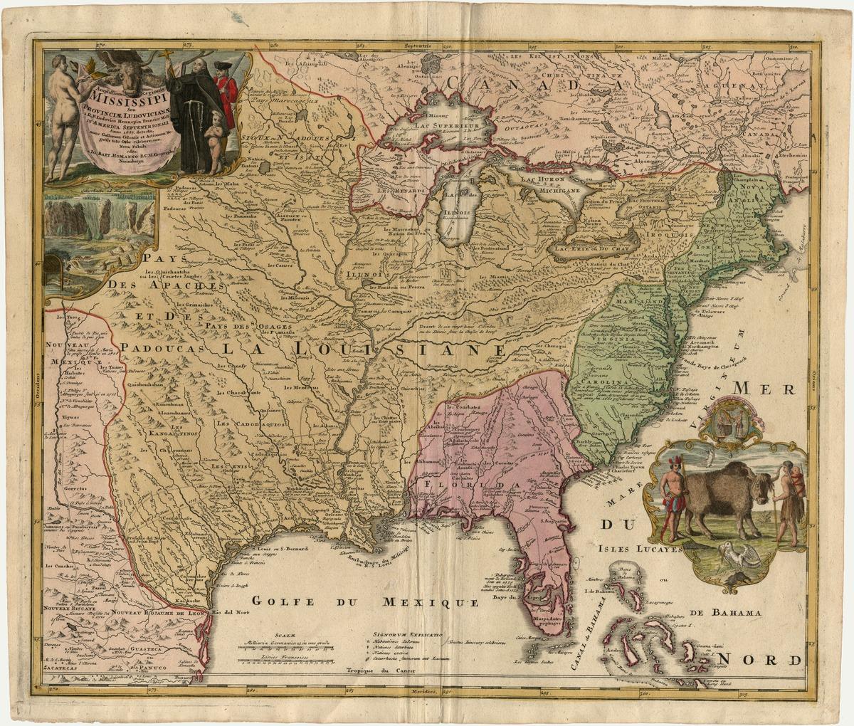 Amplissimae regionis Mississippi, seu provinciae Ludovicianæ à R.P. Ludovico Hennepin Francisc miss. In America Septentrionali, anno 1687 . . . .