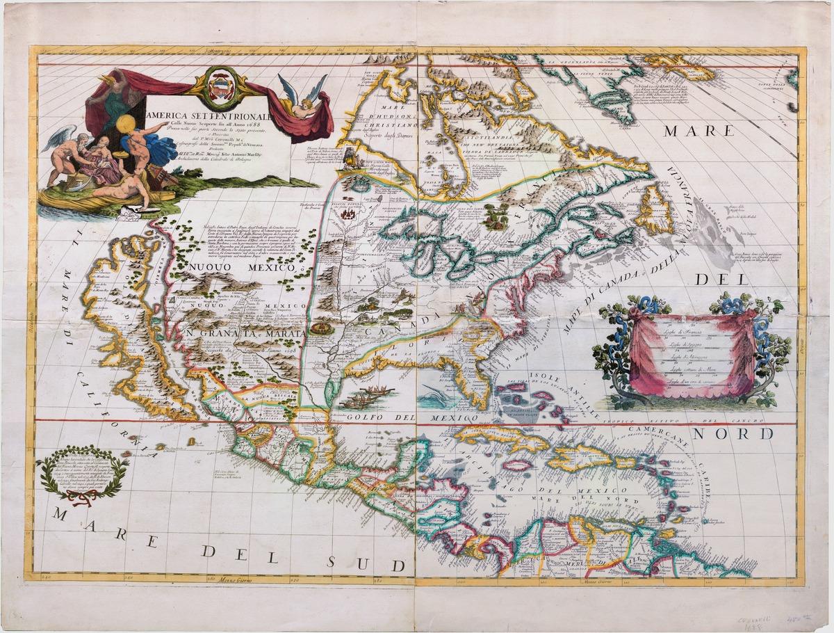America Settentrionale, colle nuoue scoperte sin all' Anno 1688
