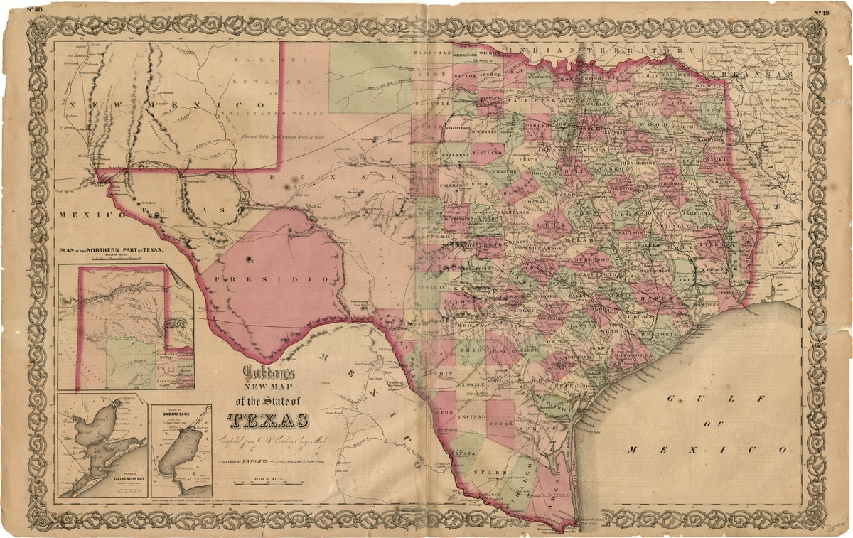 Colton's new map of the state of Texas, compiled from J. De Cordova's large map