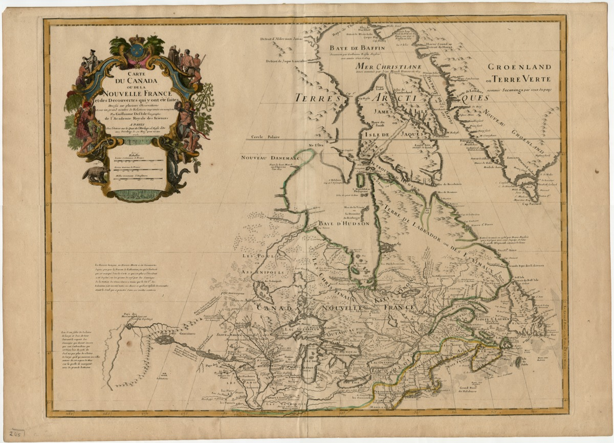 Carte du Canada, ou de la Nouvelle France et des découvertes qui y ont été faites . . . Par Guillaume Del'Isle . . . à Paris