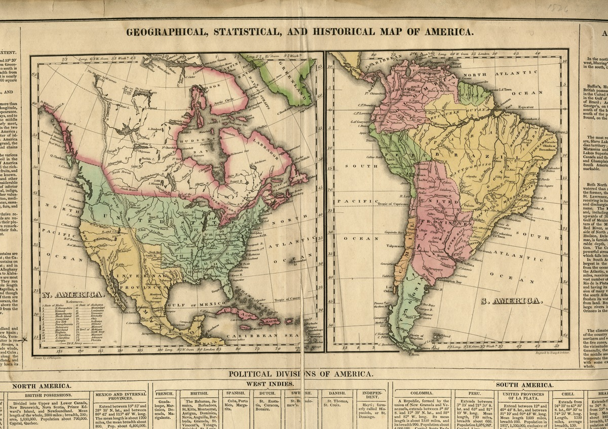 Show The Map Of America.Geographical Statistical And Historical Map Of America