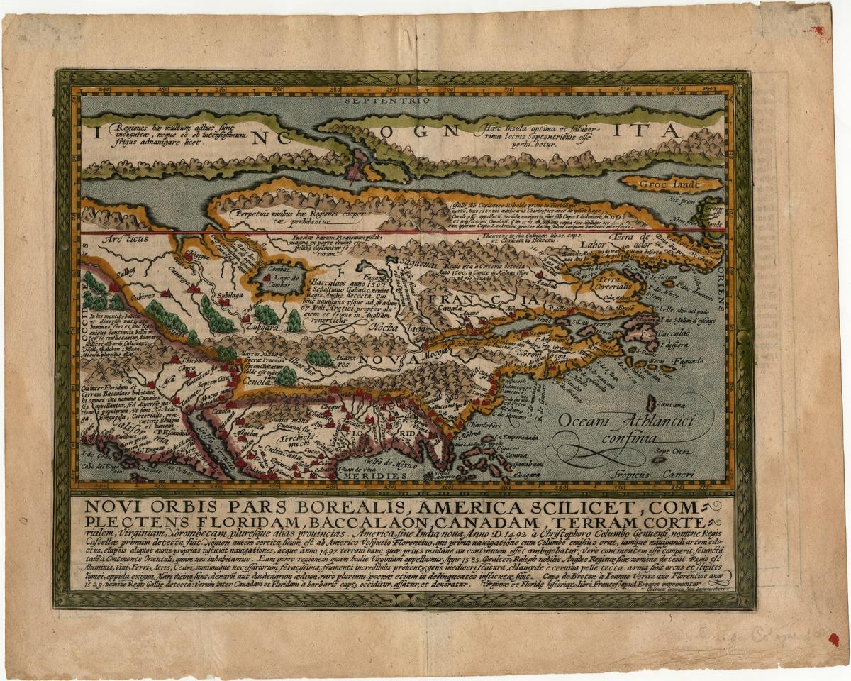 Novi orbis pars Borealis, America scilicet, complectens Floridam, Baccalaon, Canadam . . . .