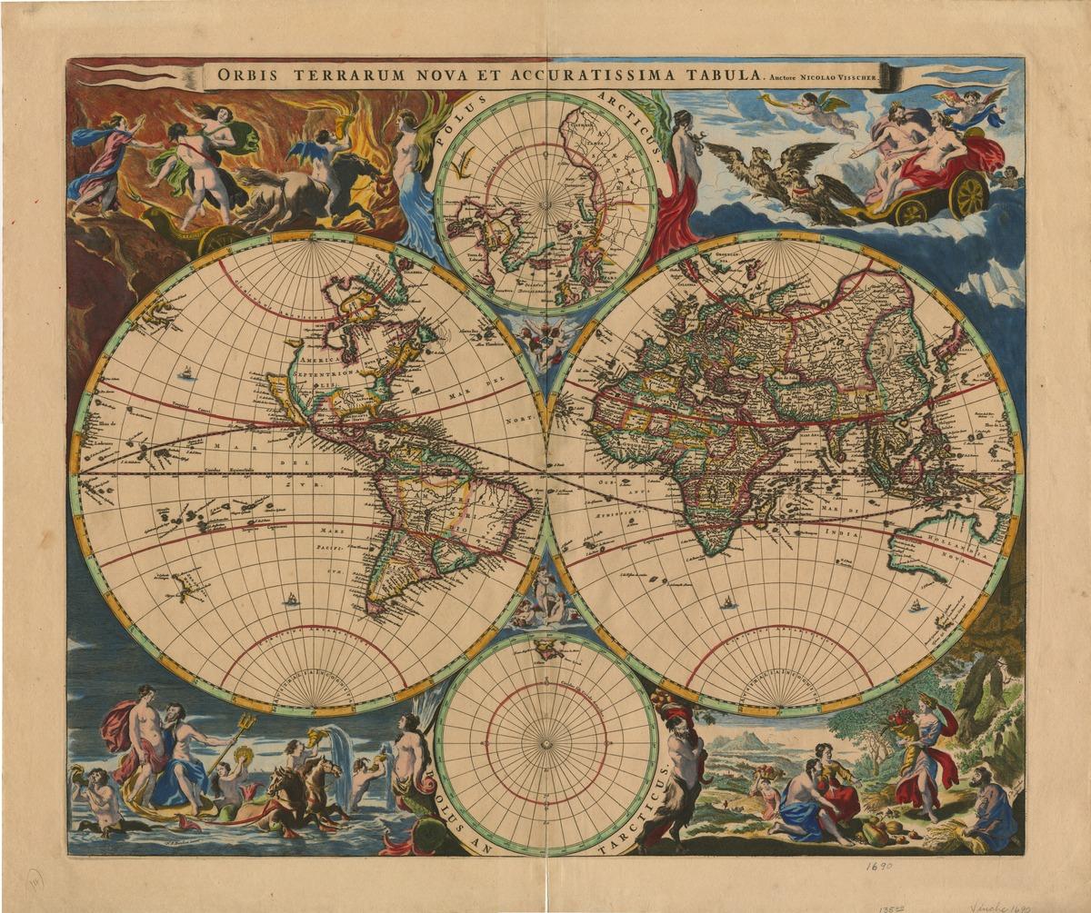 Orbis terrarum nova et accuratissima tabula. Auctore Nicolao Visscher