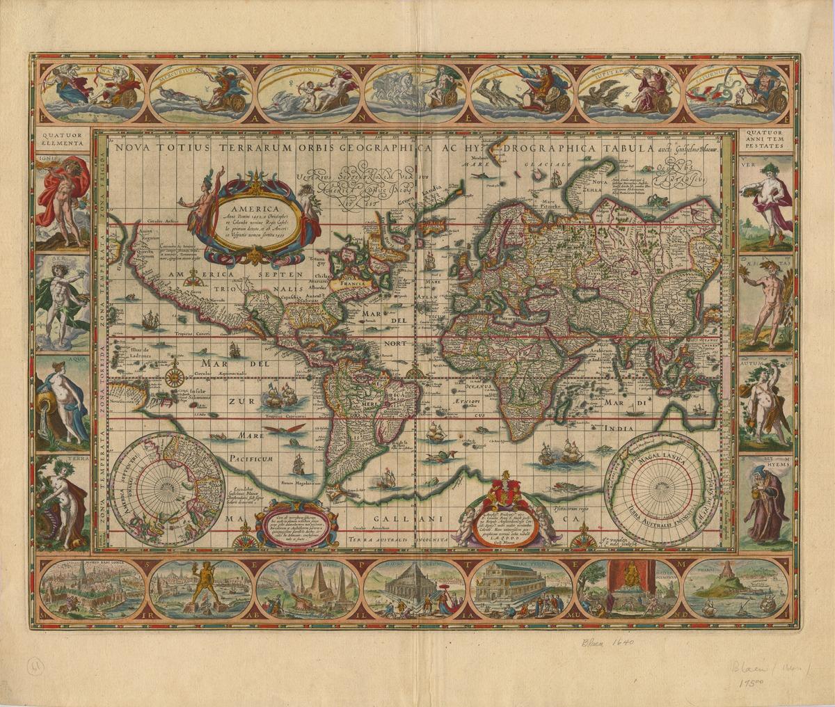 Nova totius terrarum orbis geographica ac hydrographica tabula, auct: Guiljelmo Blaeuw