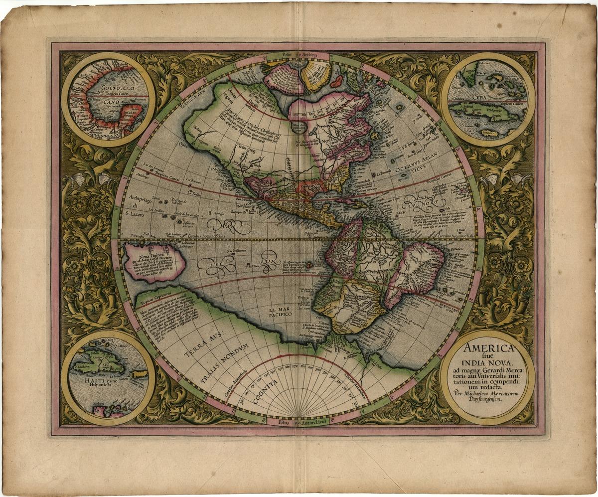 America sive India Nova, ad magnae Gerardi Mercatoris aui Universalis imitationem in compendium redacta. Per Michaelem Mercatorem Duysburgensem