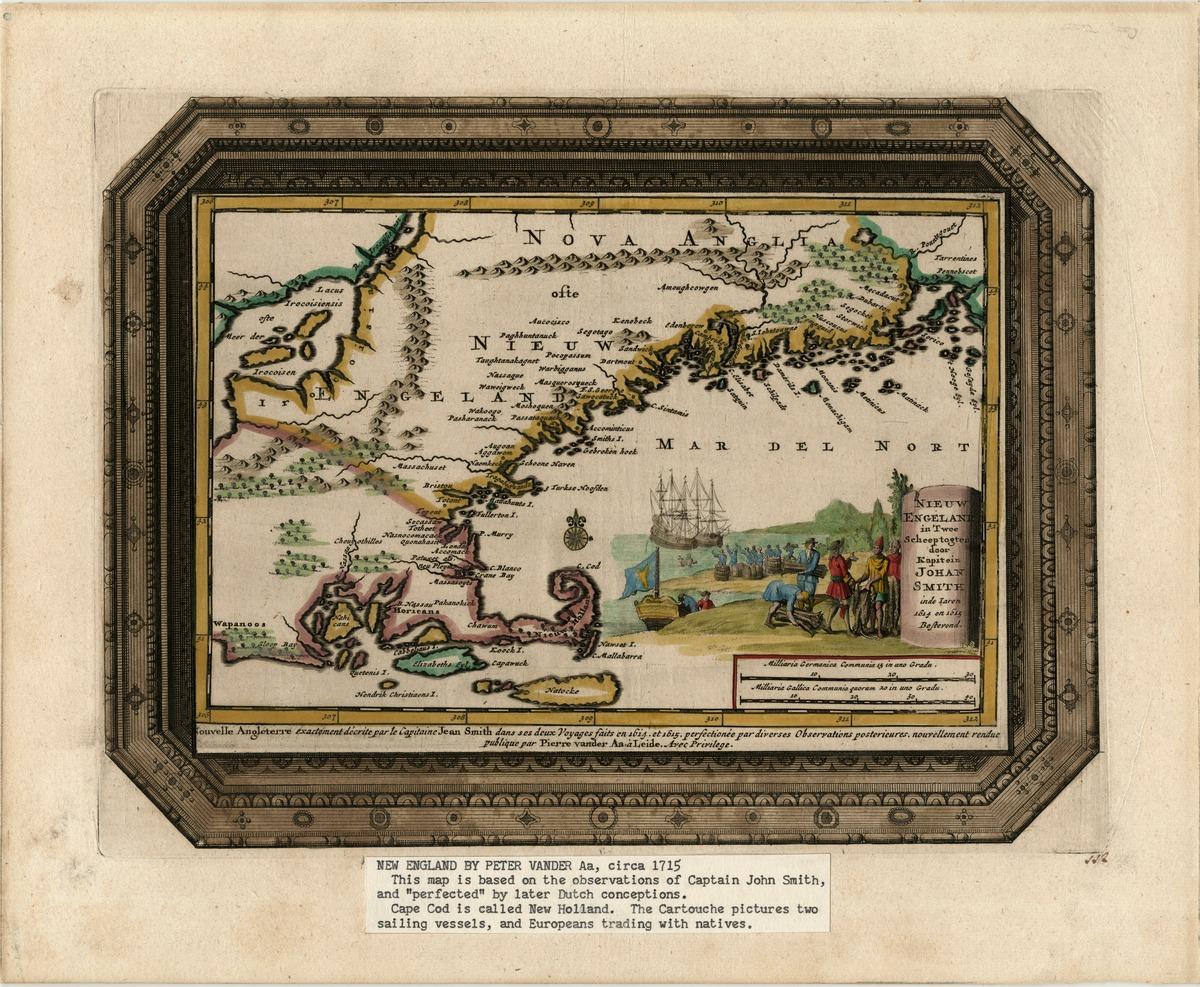 Nieuw Engeland in twee scheeptogten door Kapitein Johan Smith inde iaren 1614 en 1615 be stevend