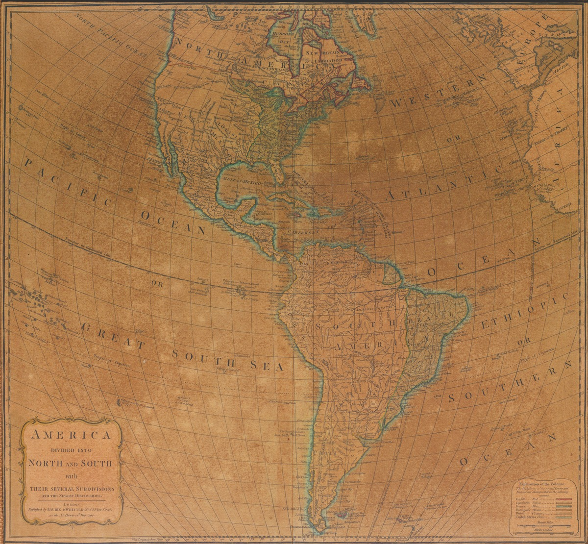 America divided into north and south with their several subdivisions and the newest discoveries . . . 12th May 1794.
