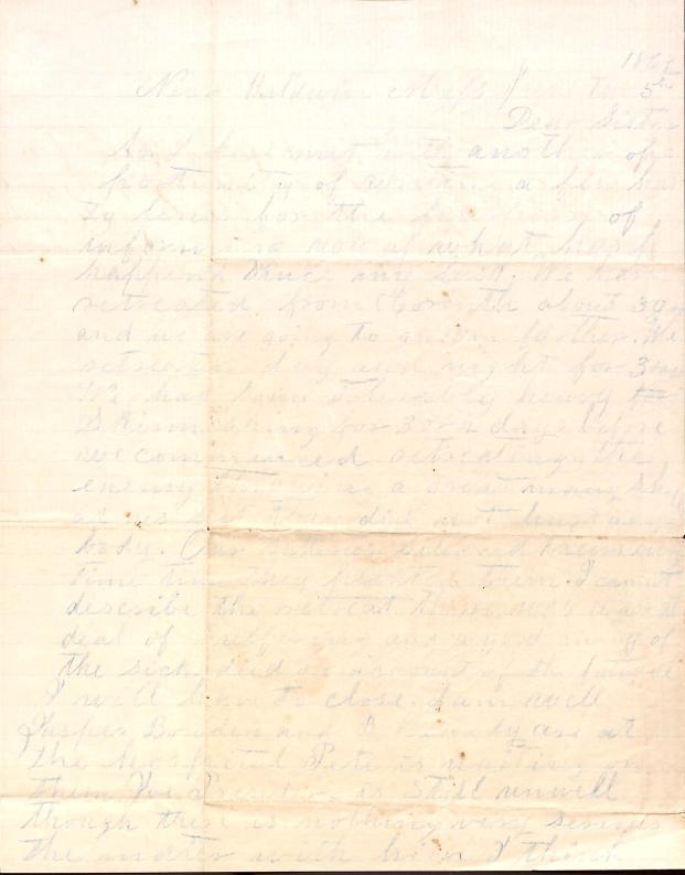 Letter: Love, Samuel B.; Love, John W. to Sister (Tea)