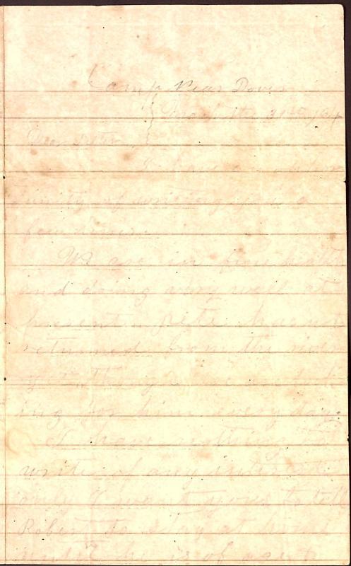 Letter: Love, Samuel B. to Sister (Tea)