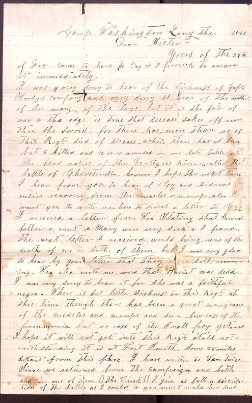 Letter: Love, Samuel B. to Betty & Lou (sister & niece)