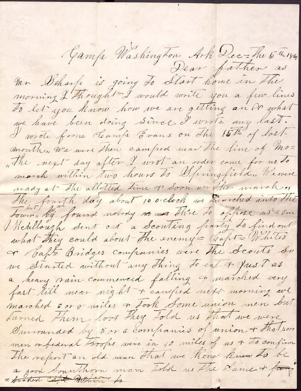 Letter: Love, Samuel B.; Love, John W. to Father