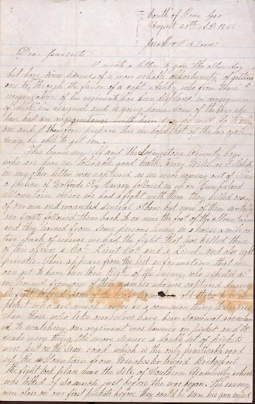Letter: Love, Cyrus W. to Jas. M & T. A. Love (parents)