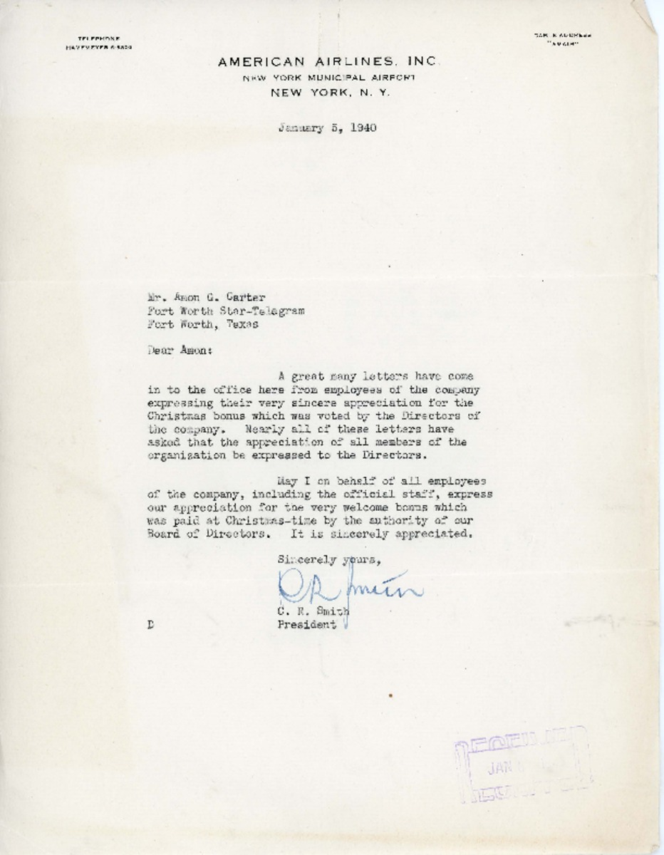 Appreciation Bonus Letter To Employee from repository.tcu.edu