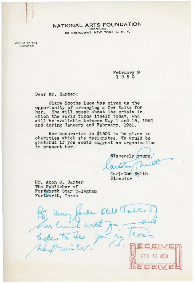 Letter re: Mrs  Luce