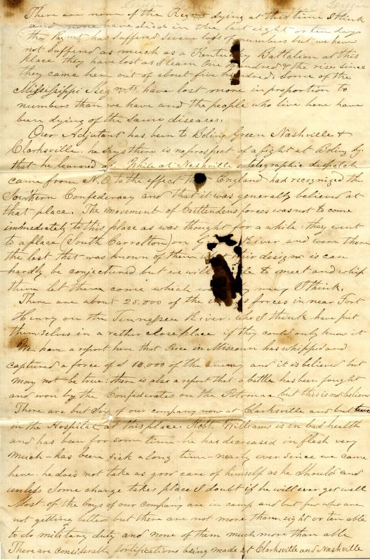 Letter: Love, Cyrus W. to Unknown (possibly John & Bettie Karner)